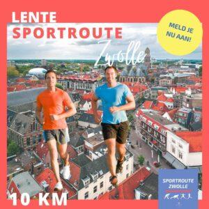 Twee mannen rennen sportroute Zwolle